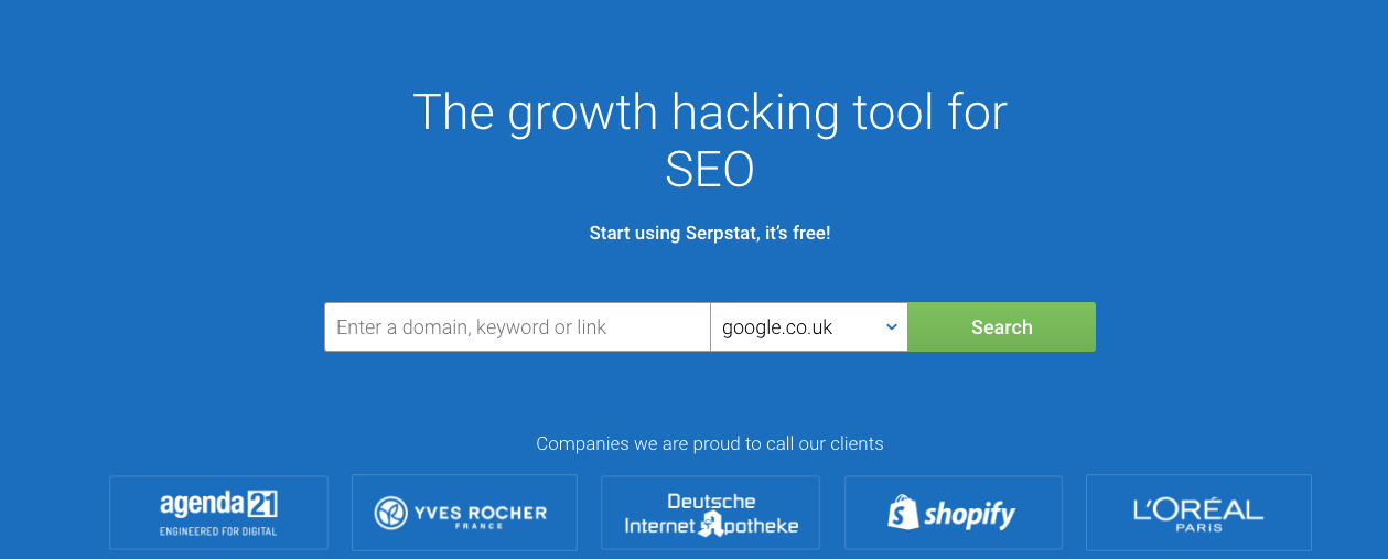 Serpstat Growth hacking tool for SEO