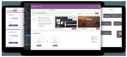 Thrive Quiz Builder example screens