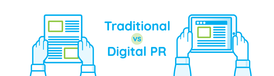 Traditional Newspaper PR versus Digital PR Tablet news