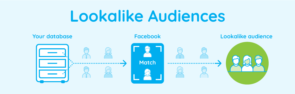 Showing how your database works with facebook to create a lookalike audience