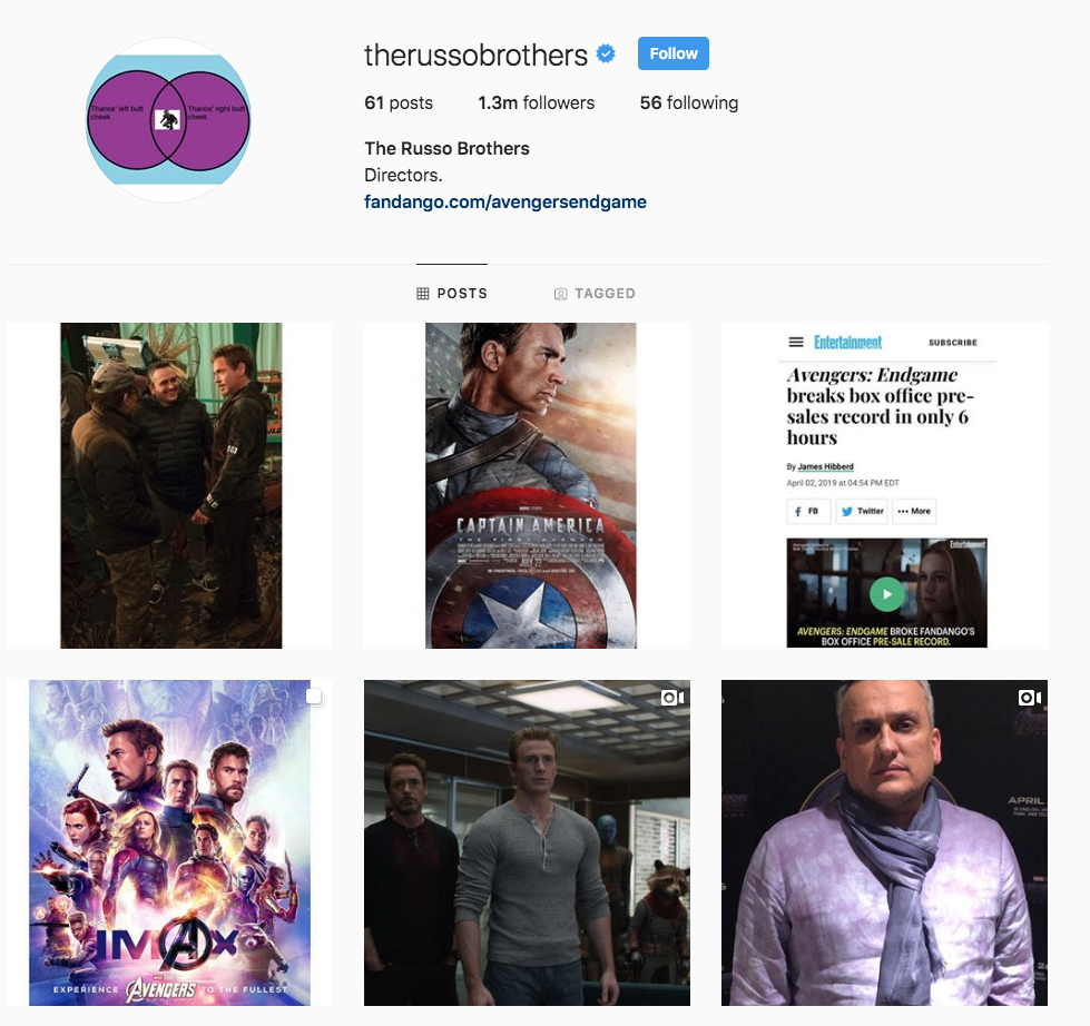 Russo Brothers Instagram
