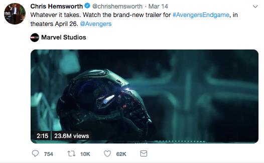 End Game actor tweet