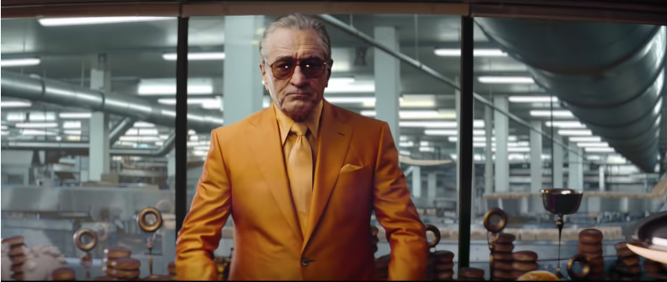 De Niro in Warbutons suit