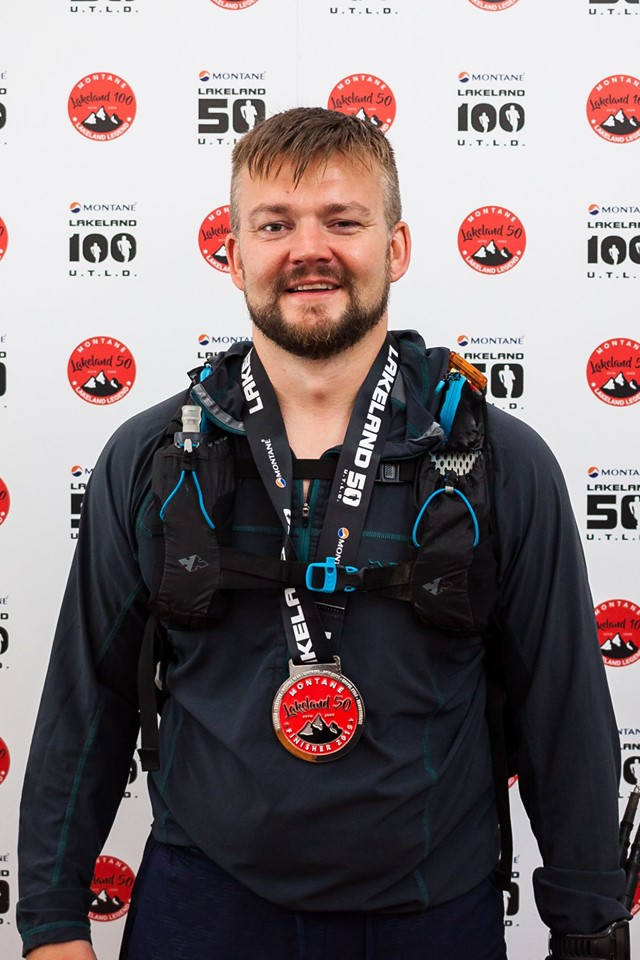 Matt Tomkin finishers photo Lakeland 50