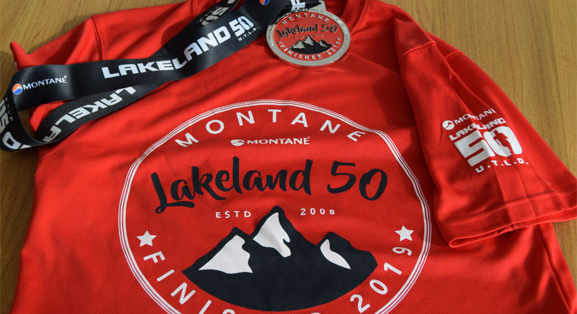 Lakeland 50 finisher tee and medal