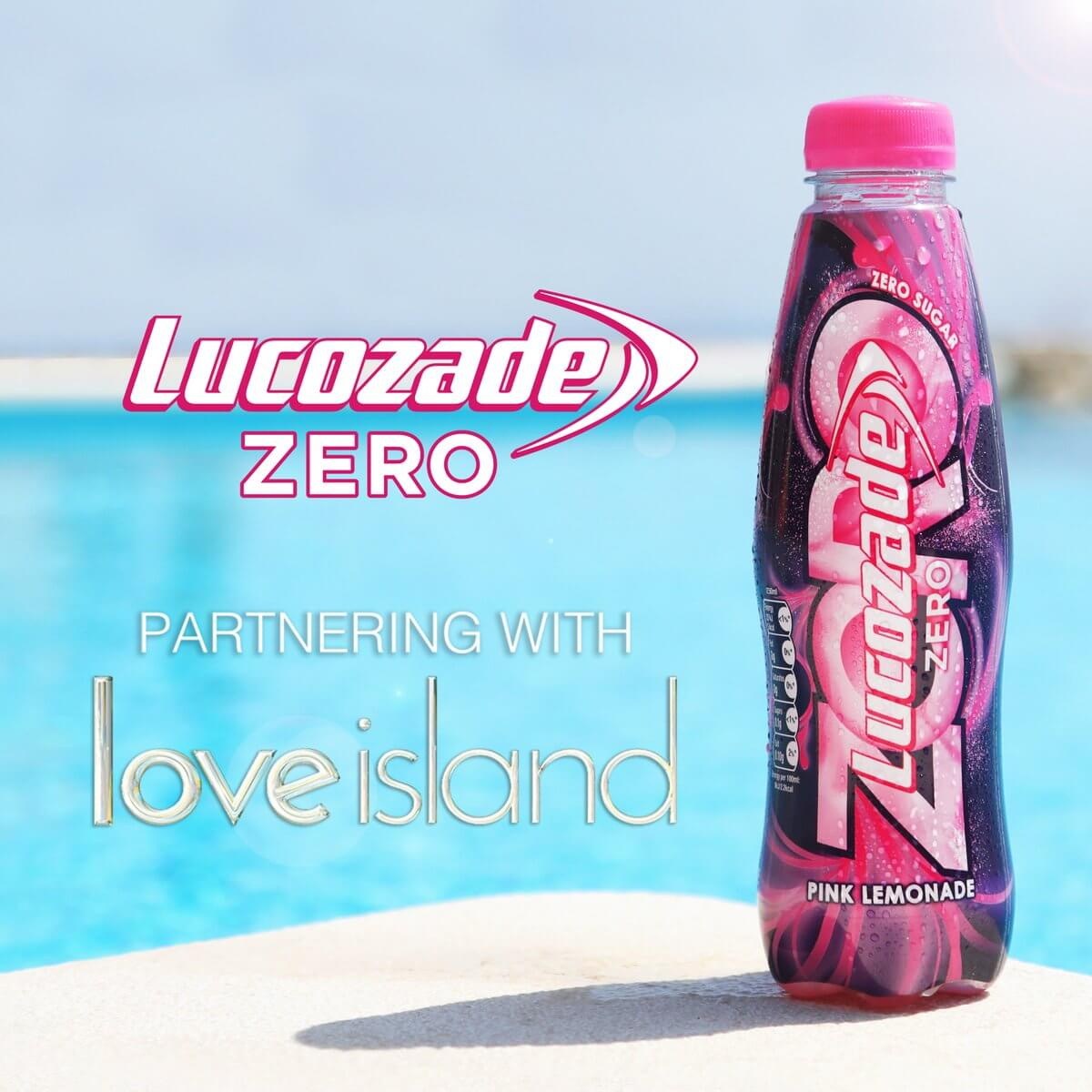 lucozade zero partnering with love island