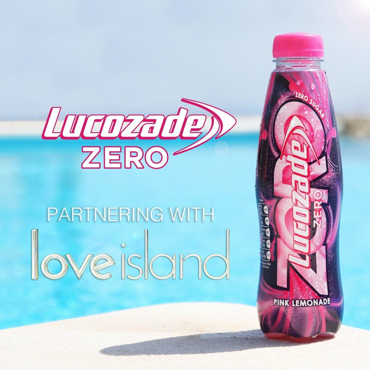lucozade zero partnering with love island
