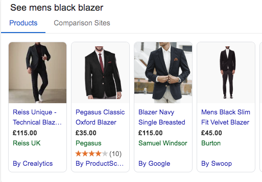 Use the price attribute - blazers showing price on google