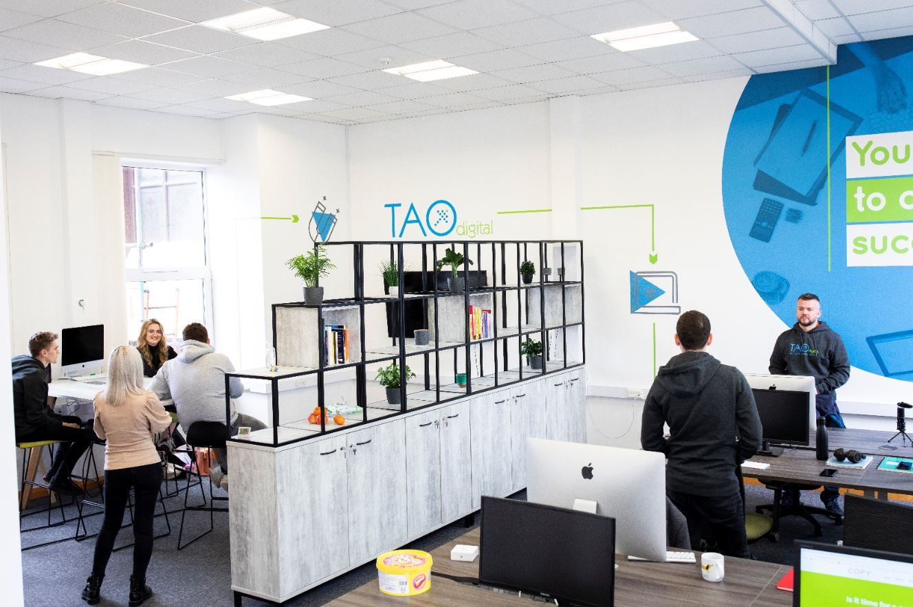 Team Tao in the new office on Knowsley Street